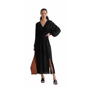 &Other Stories Smock Waist Bell Sleeve Maxi Dress